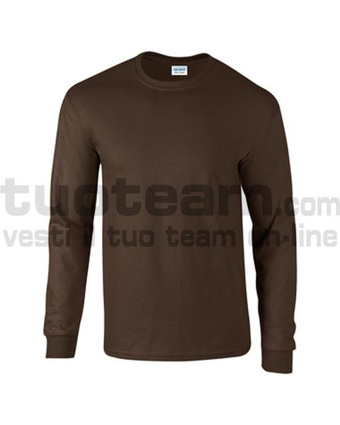 GL2400 - Ultra Cotton Maglia G/C-M/L 100% Cot. 205 gr/m2 - Dark Chocolate