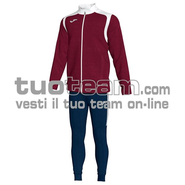 101267 - TUTA 100% polyester interlock - 673 BORDEAUX/BIANCO