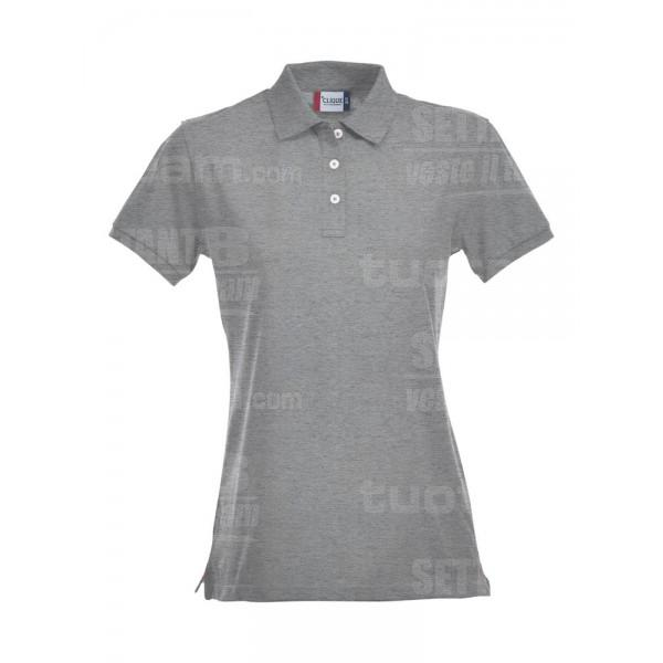 028241 - POLO Premium ladies - 95 grigio melange
