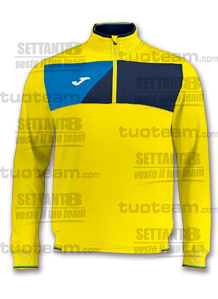 100612 - FELPA CREW ½ ZIP - GIALLO/BLU NAVY/BLU ROYAL