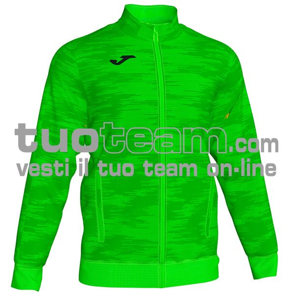101369 - GRAFITY GIACCA FULL ZIP 100% polyester interlock - 020 VERDE FLUOR