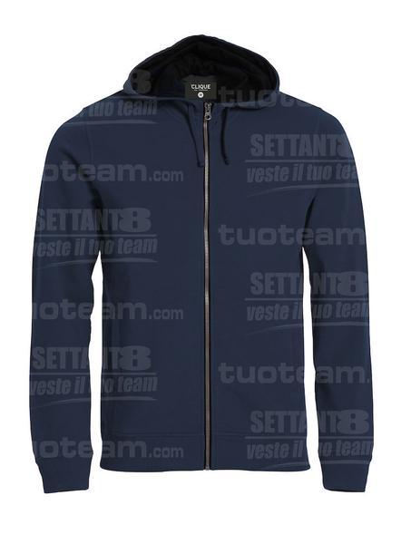 021044 - FELPA Classic Hoody Full Zip - 580 blu