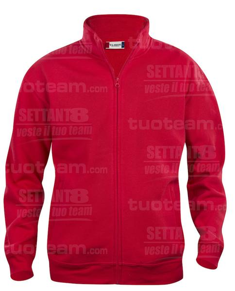 021038 - FELPA Basic Cardigan Men's - 35 rosso