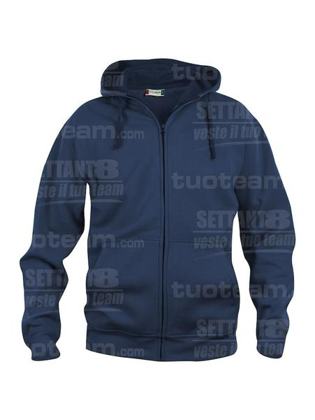 021034 - FELPA Basic Hoody Full zip Men's - 580 blu