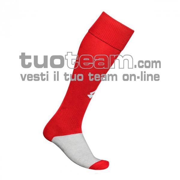L53050 - LOGO SOCK TRNG LONG - rosso / bianco