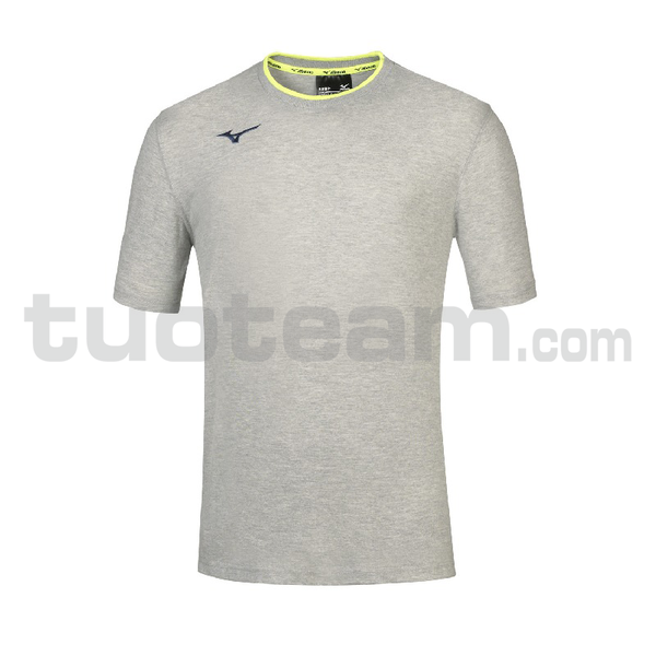 32EA7040 - mizuno t-shirt - Heather Grey/Navy