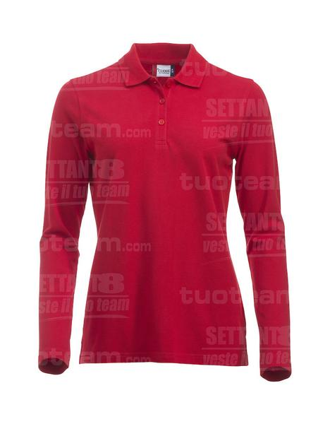 028247 - POLO New Classic Marion L/S - 35 rosso