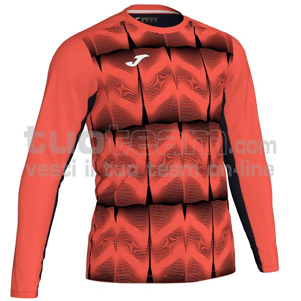 101301 - MAGLIA ML PORTERO DERBY IV 100% polyester interlock sublimato - 041 ARANCIO SCURO FLUOR / NERO