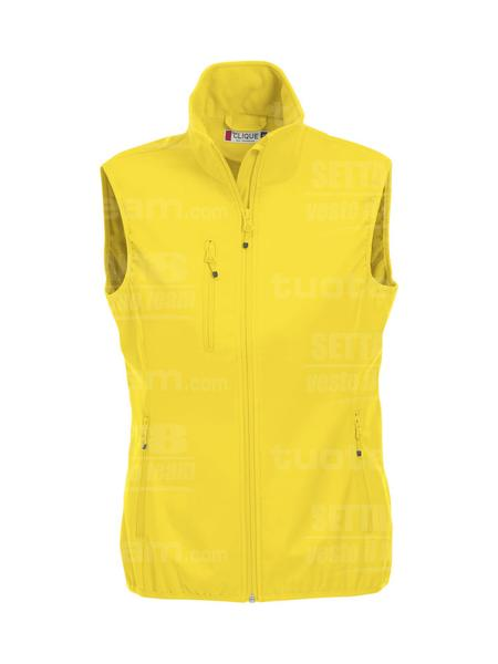 020916 - GILET Basic Softshell Vest Ladies - 10 giallo limone