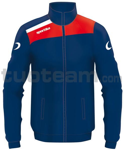 7245 - giacca NEST - BLU / ROSSO / BIANCO