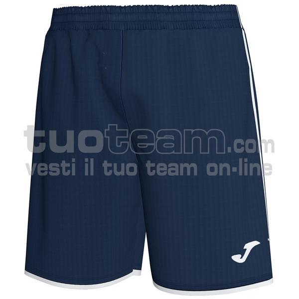 101324 - LIGA SHORT 100% polyester interlock - 332 DARK NAVY / BIANCO