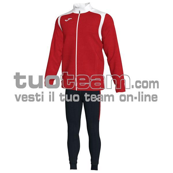 101267 - TUTA CHAMPION V 100% polyester interlock - 602 ROSSO / BIANCO