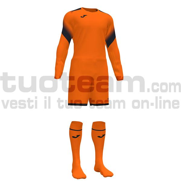 101477 - ZAMORA V SET MAGLIA ML+SHORT+CALZ. 100% polyester interlock - ARANCIONE