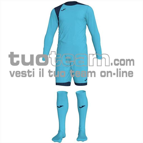 101300 - ZAMORA IV SET MAGLIA ML+SHORT+CALZ. 100% polyester interlock - 013 TURCHESE FLUO