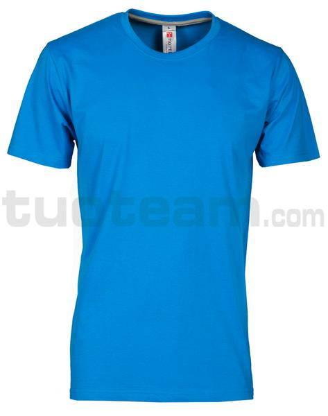 SUNSET - T-SHIRT SUNSET - LIGHT BLU ROYAL