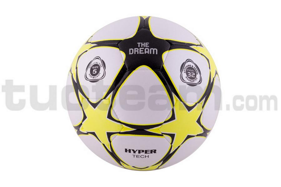 780231 - pallone THE DREAM MATCH '17 hi-tech - BIANCO / GIALLO NEON