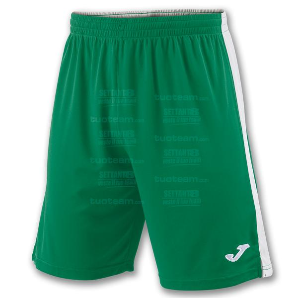 100684 - TOKIO II SHORT 100% polyester interlock - VERDE/BIANCO