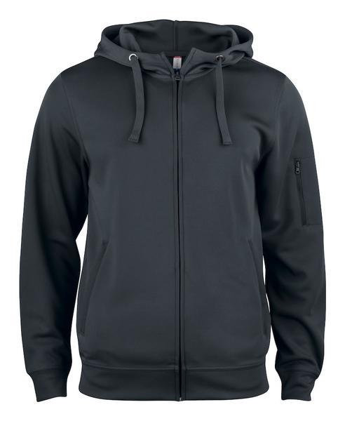 021014 - Basic Active Hoody Full Zip - 99 nero