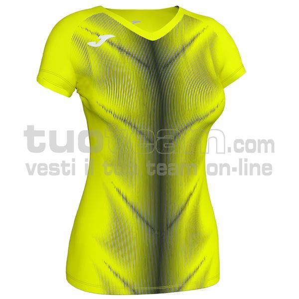 900933 - OLIMPIA WOMAN MAGLIA MC 95% polyester 5% elastane - 061 GIALLO FLUO/NERO