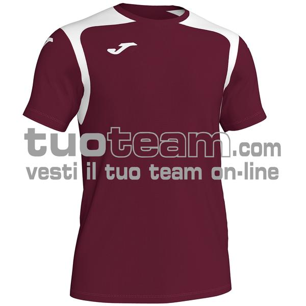 101264 - CHAMPIONSHIP V MAGLIA MC 100% polyester interlock - 672 BORDEAUX/NERO