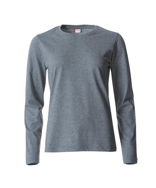 029034 - Basic-T Long Sleeve Lady - 95 grigio melange