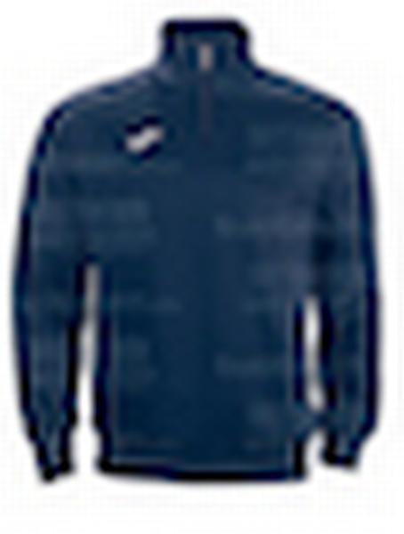 100285 - FELPA 1/2 ZIP COMBI FARAON - 300 BLU NAVY/BIANCO