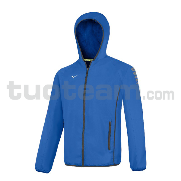 32EE7002 - Micro Jacket Hooded - Royal/White