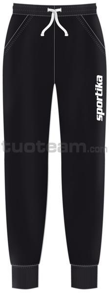 7345 - pantalone HUDSON - NERO