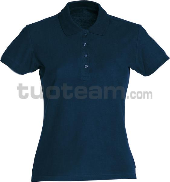 028231 - polo basic lady - 580 blu
