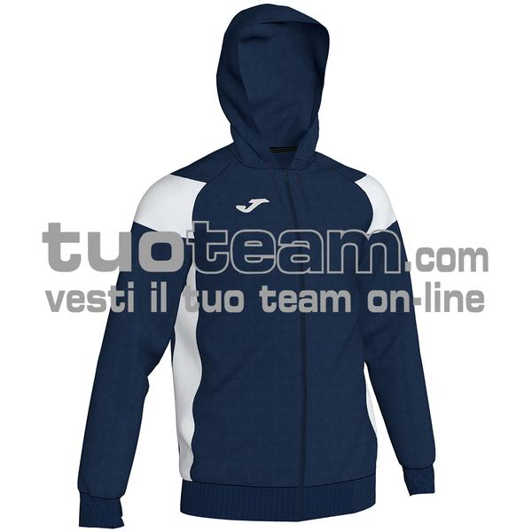 101271 - CREW III FELPA FULL ZIP 100% polyester fleece - 332 DARK NAVY / BIANCO