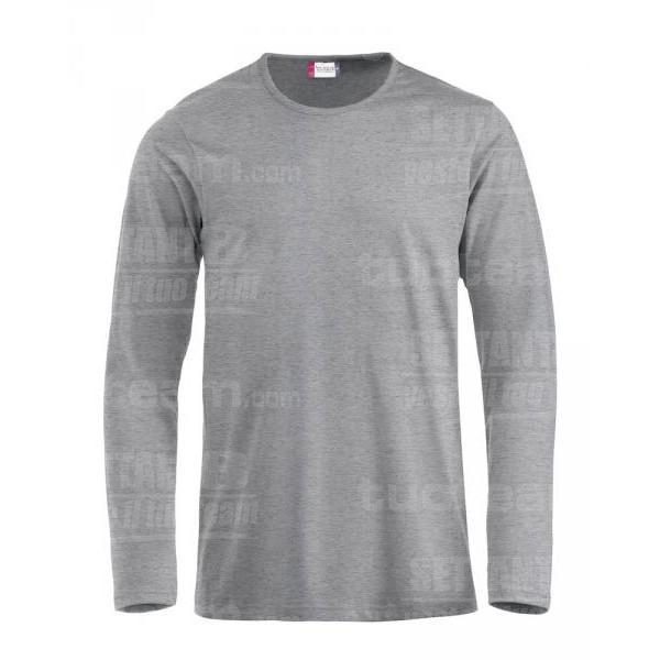 029329 - T-SHIRT Fashion-T m/lunga - 95 grigio melange