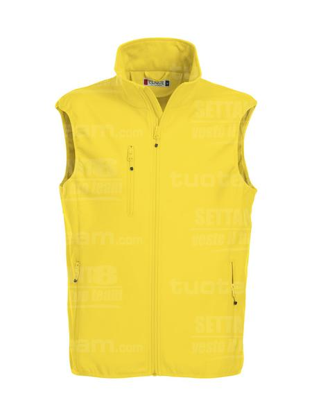 020911 - GILET Basic Softshell Vest Men - 10 giallo limone