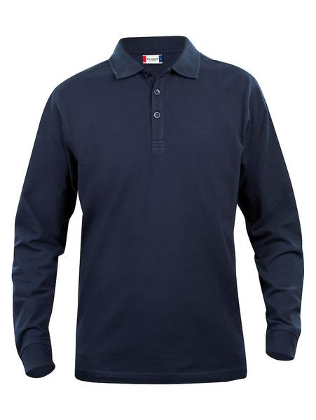 028233 - Basic Polo Long Sleeve Junior - 580 blu
