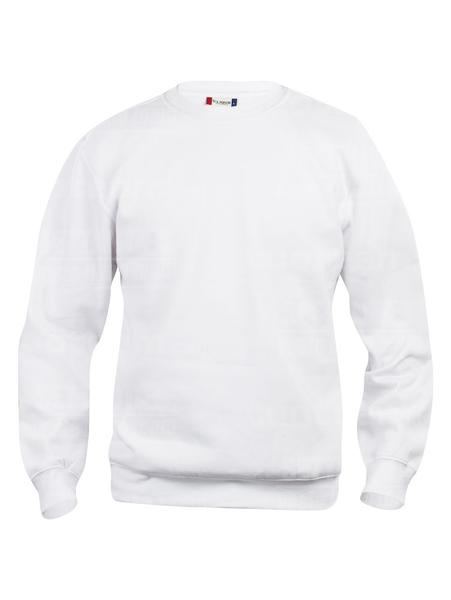 021030 - FELPA Basic Roundneck - 00 bianco