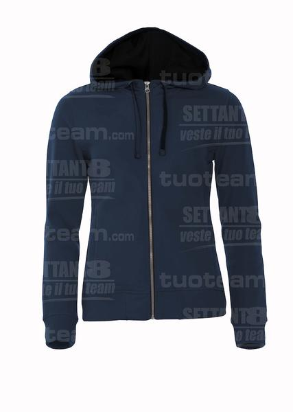 021045 - FELPA Classic Hoody Full Zip Ladies - 580 blu