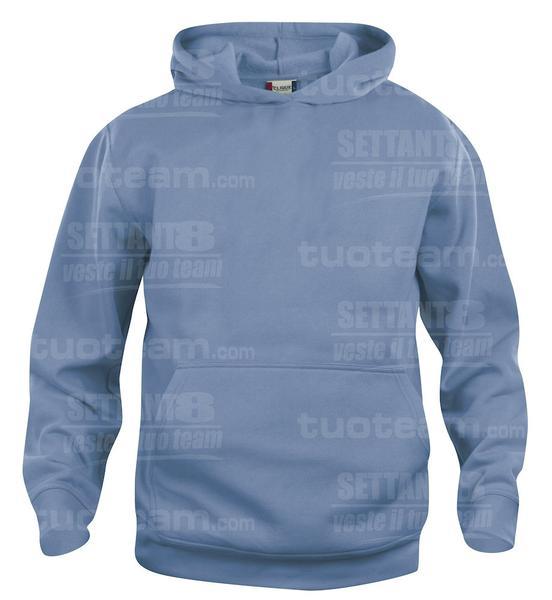 021021 - FELPA Basic Hoody Junior - 57 azzurro