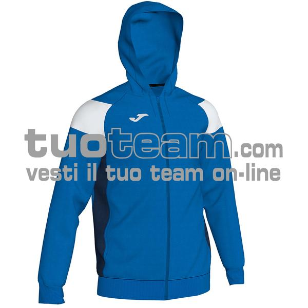 101271 - CREW III FELPA FULL ZIP 100% polyester fleece - 702 ROYAL / BIANCO