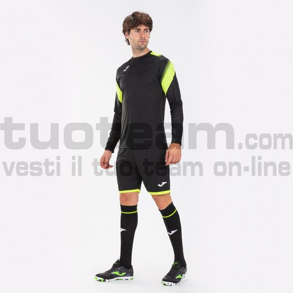 101477 - ZAMORA V SET MAGLIA ML+SHORT+CALZ. 100% polyester interlock - 121 GIALLO / NERO