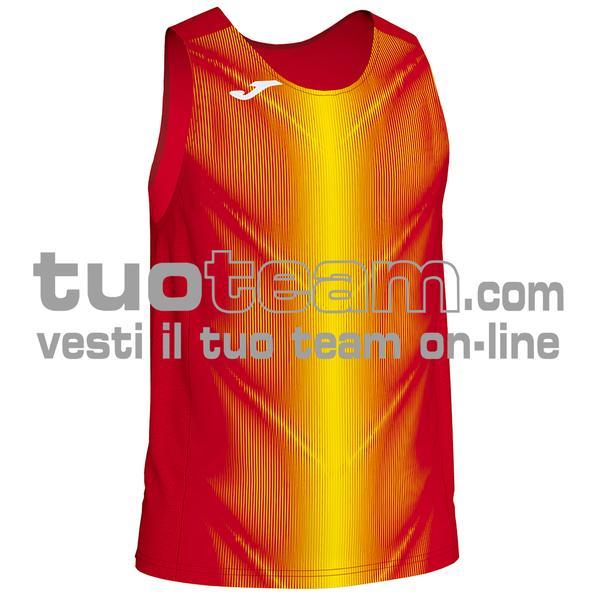 101348 - CANOTTA OLIMPIA 95% polyester 5% elastane - 609 ROSSO / GIALLO