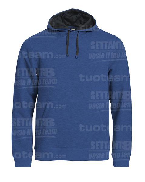 021041 - FELPA Classic Hoody - 565 blu melange