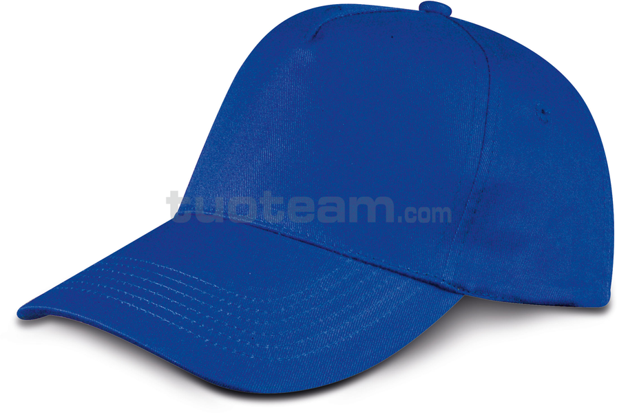 K18040 - CAPPELLINO GOLF 5 PANN. IN COTONE - BLU ROYAL